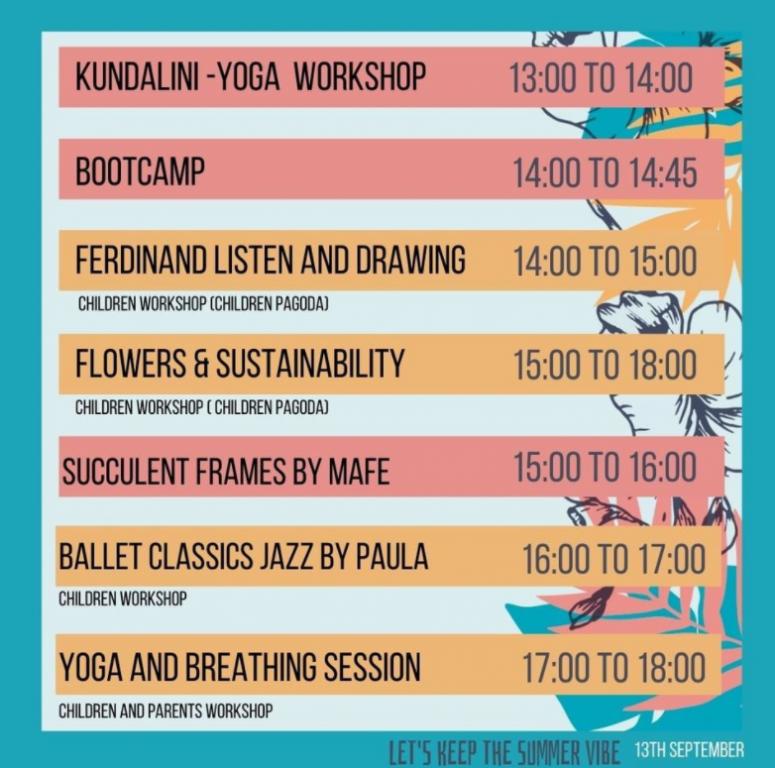 Agenda Workshops September 13th