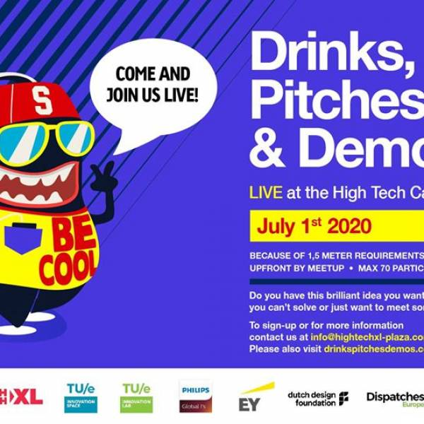 01-07-2020 | Drinks, Pitches and Demos at High Tech Plaza